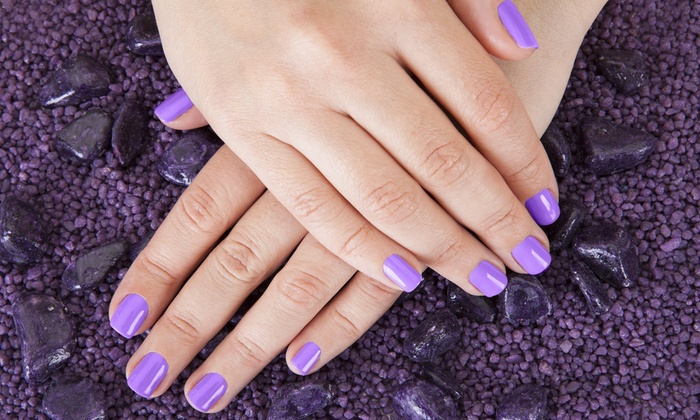 Nails by Julia @ The Hair Lounge - Elk Grove: Up to 55% Off Gel Manicure and Spa Pedicure at Nails by Julia @ The Hair Lounge