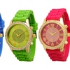 Women's Crystal and Silicone Watch