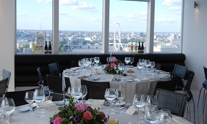 Altitude 360 - Altitude 360 Millbank Tower: Afternoon Tea for Two with a Bottle or Free-Flowing Champagne and Panoramic Views of London at Altitude 360