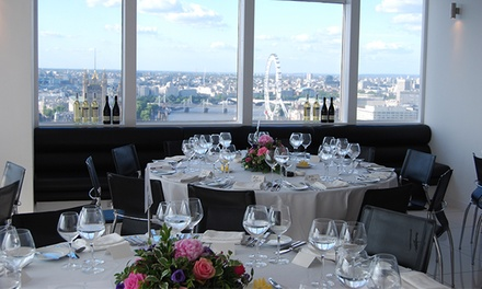 Afternoon Tea for Two with a Bottle or Free-Flowing Champagne and Panoramic Views of London at Altitude 360