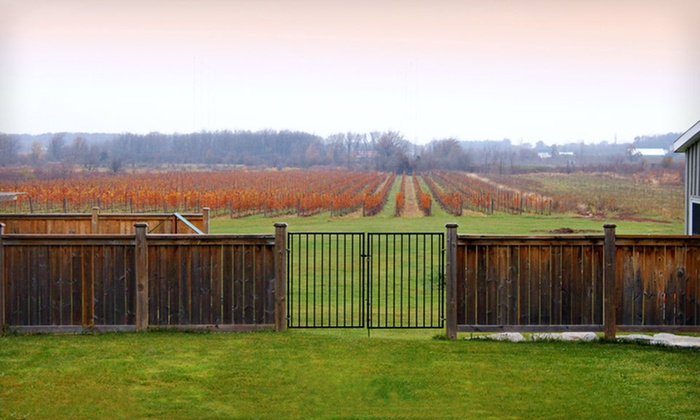 Wine-Country Experience for Two - Beamsville (Niagara Region): One- or Two-Night Winery Tour, w/ Dining Credits, Wine, and Breakfast from Crush on Niagara in Niagara Wine Country, ON