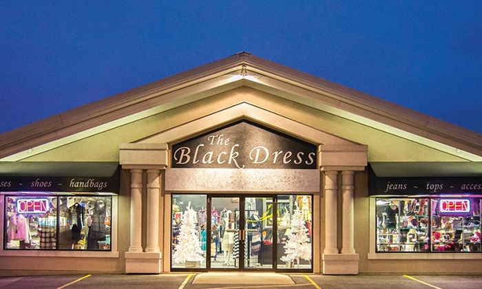 The Black Dress - Ashwaubenon: Clothing and Accessories at The Black Dress (Up to 52% Off). Two Options Available.