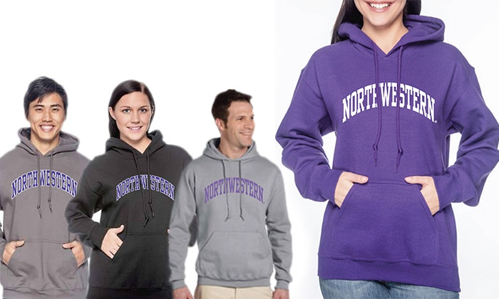 Campus Gear - IN-STORE PICKUP: Northwestern Hooded Sweatshirt with In-Store Pickup at Campus Gear (Up to 22% Off). Two Options Available.