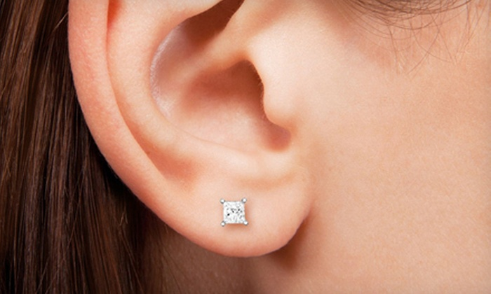 lee round earrings carat stud diamond michaels solitaire