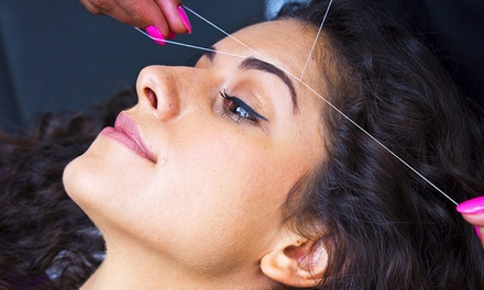 Two or Four Brow or One Face Threading at Ellaments Salon & Boutique (Up to 53% Off)