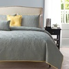Embroidered Reversible Quilt Set (5-Piece)