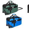 """22"""" Milano Collection Rolling Duffel Bag"""