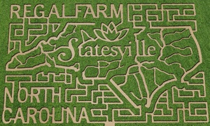 Regal Corn Maze: Corn-Maze Admission for Two or Four with Activity Tickets at Regal Corn Maze (Up to 50% Off)
