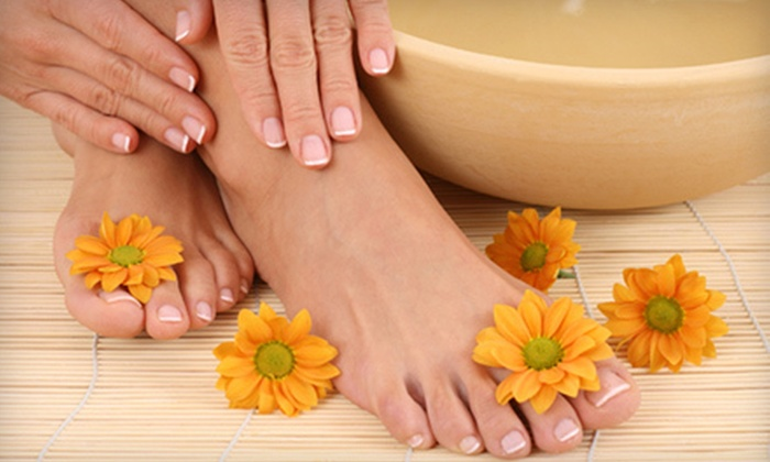 Top Coat Nail Salon & Spa - RP Sports Compex: Pedicure with a Callus Treatment, Pink-and-White Nail Enhancements, or Both at Top Coat Nail Salon & Spa (Up to 60% Off)
