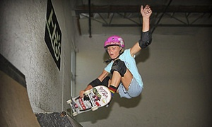 Aura Skateboarding: One or Five All-Day Skate-Park Sessions at Aura Skateboarding (Up to 60% Off)