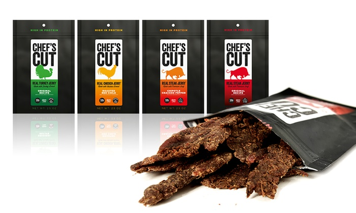 4-Pack Chef's Cut Real Jerky: 4-Pack Chef's Cut Real Jerky