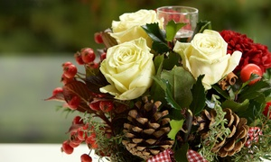 Rosies & Posies: Holiday-Themed Centerpiece for One or Two, or $40 Worth of Flowers at Rosies & Posies (Up to 44% Off)