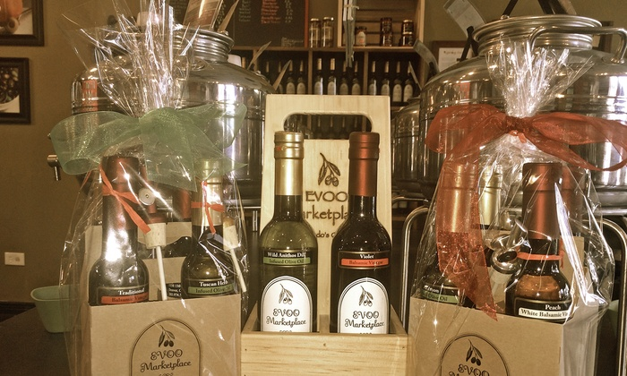 EVOO Marketplace - Multiple Locations: $35 for $50 Worth of Extra-Virgin Olive Oils and Aged Balsamic Vinegars at EVOO Marketplace