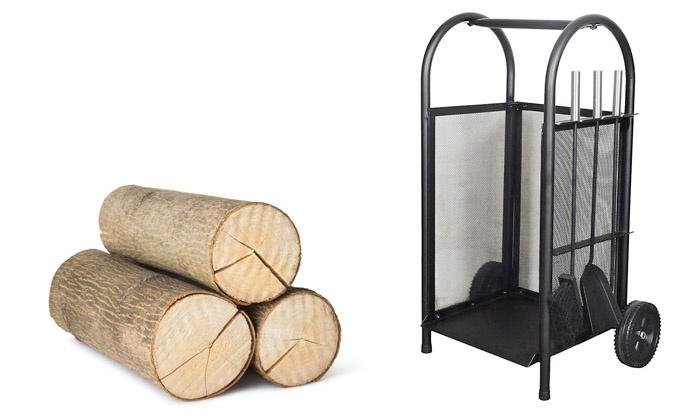 chariot bois porte b che groupon shopping. Black Bedroom Furniture Sets. Home Design Ideas