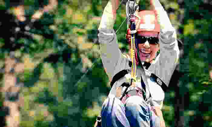 Zoar Outdoor - Charlemont: $119 for a Zipline Canopy Tour for Two from Zoar Outdoor ($188 Value)