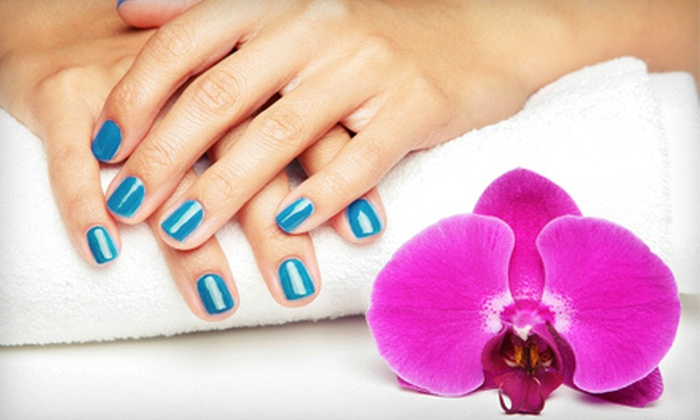 New Nail & Hair Obsession Day Spa - Skokie: No-Chip Manicure or Two Regular Manicures and Pedicures at New Nail & Hair Obsession Day Spa in Skokie (Up to 54% Off)