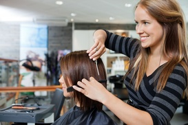 Phylls West at Shear Edge Salon: $36 for a Haircut, Partial Highlights, and Blow-Dry from Phylls West at Shear Edge Salon ($90 Value)