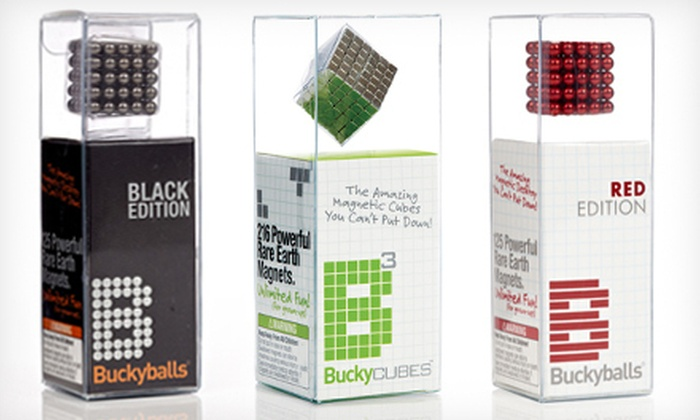 Buckyballs and Buckycubes: 125- or 216-Piece Buckyballs or Buckycubes Set with Shipping Included (Up to 58% Off). Multiple Colors Available.