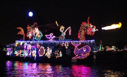 image for 1 Junior, 1 or 2 Adult Tickets to Newport Beach Christmas Boat Parade & Holiday Lights Cruises (Up to 53% Off)