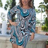 Women's Multi-Print Plus Size Dresses