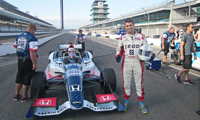 Indy Racing Experience - Indianapolis Motor Speedway: Two-Lap Ride-Along Experience for One or Two at Indianapolis Motor Speedway from Indy Racing Experience (50% Off)