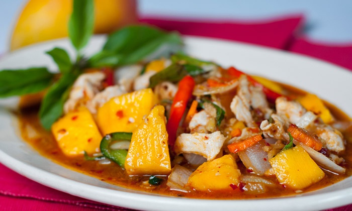 Thai Topaz Castle Hills - Castle Hills: One or Two Groupons, Each Good for $20 Worth of Thai Cuisine at Thai Topaz Castle Hills (40% Off)