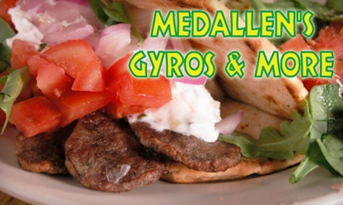 Medallen's Gyros & More - The Crossing at McKenna Creek: $5 for $10 Worth of Casual Greek Fare from Medallen's Gyros & More in Gahanna