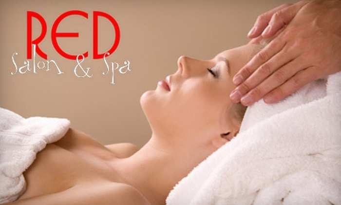 Red Salon & Spa - Hancock: $35 for a 60-Minute Massage ($72 Value) or $38 for a 60-Minute European Facial ($77 Value) at Red Salon & Spa in Cape Coral