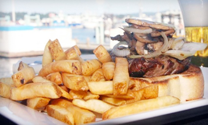 Lighthouse Bistro & Pub - Nanaimo: One or Two Steak Sandwiches at Lighthouse Bistro & Pub in Nanaimo