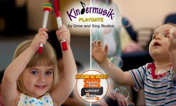 Kindermusik with Grow and Sing Studios - Multiple Locations: $5 for a 45-Minute Playdate at Kindermusik with Grow and Sing Studios ($15 Value)