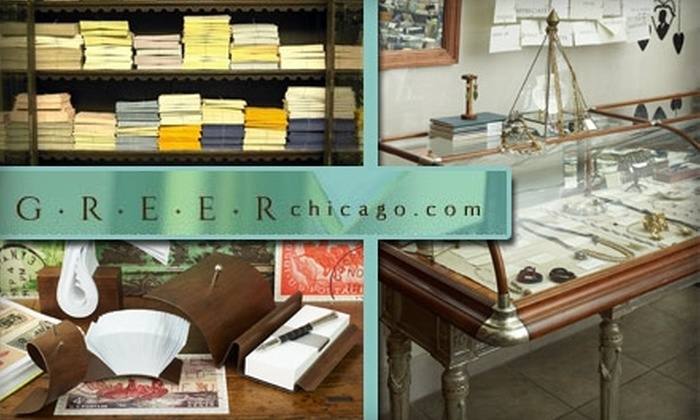 Greer Chicago - Near North Side: $25 for $50 Worth of Elegant Cards, Stationery, and Writing Paraphernalia at Greer Chicago