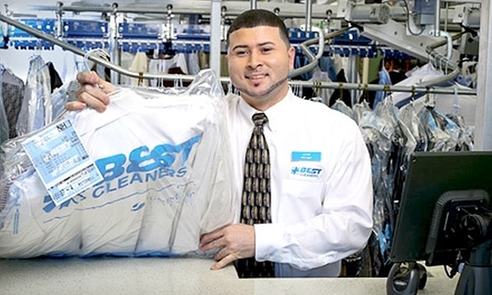 Best Cleaners - Multiple Locations: Eco-Friendly Dry Cleaning at Best Cleaners. Eleven options available.