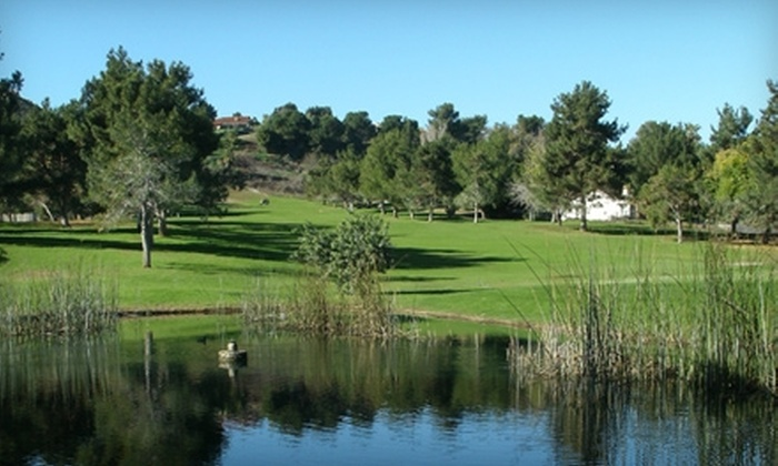 Indian Hills Golf Club - Pedley: $65 for 18 Holes of Golf For Two, Cart Rental, Balls, and Food and Beverage Combo at Indian Hills Golf Club (Up to $135.90 Value)