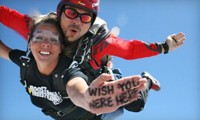 California Skydiving Adventures - Lake Balboa: $199 for a Tandem-Skydiving Package with Video or Photos from California Skydiving Adventures in Kern ($499 Value)