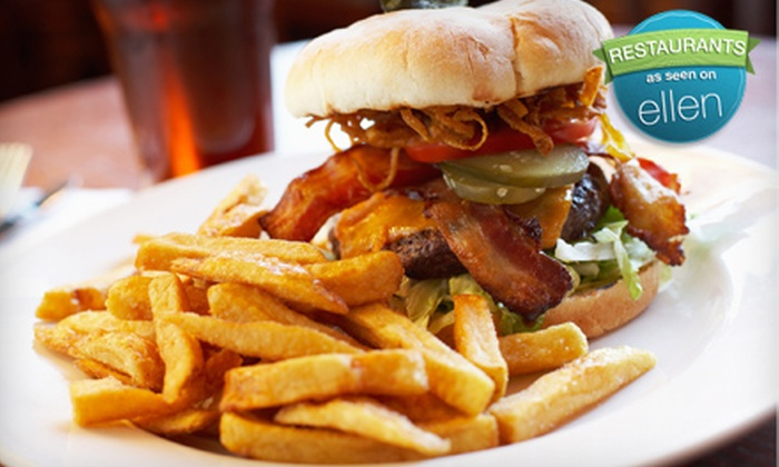 Pudley's - San Carlos: Burger and Beer Meal for Two or Four at Pudley's in San Carlos