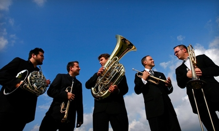 Gallagher-Bluedorn Performing Arts Center - Cedar Rapids / Iowa City: One Ticket to See Boston Brass at the Gallagher-Bluedorn Peforming Arts Center in Cedar Falls. Two Options Available.