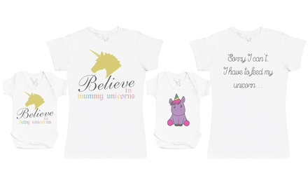 Unicorn Bodysuit and T-Shirt Set
