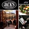 Half Off at Jack's Bar & Grill/404 Wine Bar