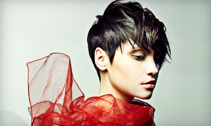 Encore Salon - Regal Park: $20 for Haircut, Wash, Scalp Massage, and Style from Nicole at Encore Salon ($40 Value)