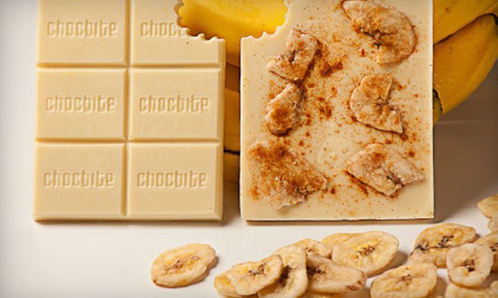 Chocbite: $30 for $60 Worth of Custom-Designed Chocolate Bars from Chocbite
