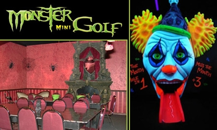 Monster Mini Golf - Winter Garden: $15 for Four Ghoul-Infused Rounds of Monster Mini Golf