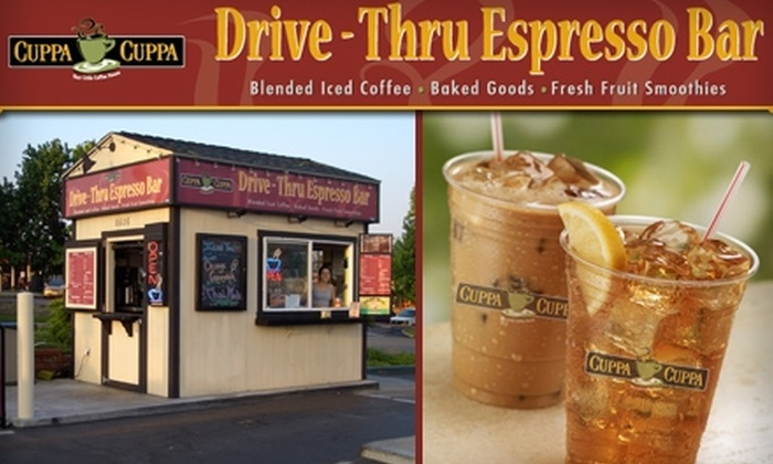 Cuppa Cuppa Drive-Thru Espresso Bar - Allied Gardens: $7 for $15 Worth of Espresso, Smoothies, and More at Cuppa Cuppa Drive-Thru Espresso Bar