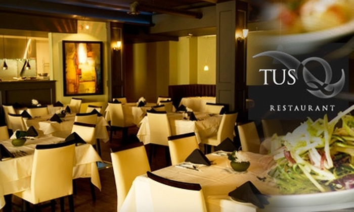 Tusq - Central Business District: $30 for $60 Worth of Dinner and Drinks, or $15 for $30 Worth of Lunch, at Tusq
