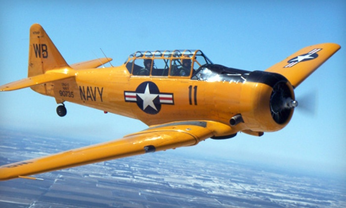 Gauntlet Warbirds - Sugar Grove: Antique Warplane or Stunt-Craft Airplane Rides from Gauntlet Warbirds in Sugar Grove (40% Off). Three Options Available.