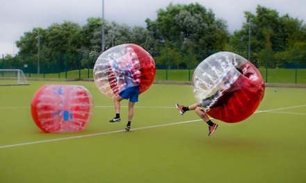 Bubble Football Game for 15 or 20 Players with Spartacus Bubble Soccer (Up to 64% Off)