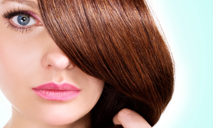 null - Clifton Park: Cut Package with Reparative Treament or Color; or Keratin Treatment at Just Glamorous Salon & Boutique  (Up to 67% Off)