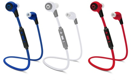 BKHC BK Sport Bluetooth Stereo Tangle-Free Earbuds with Built-In Mic and Multimedia Function