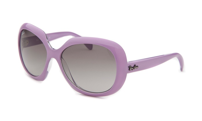 ray ban sunglasses light purple frameblack lensrb4208 6102 11