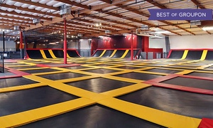 Aerosports Trampoline Park Corona: Two 60-Minute Open-Jump Sessions or Party Package at Aerosports Trampoline Parks - Corona (Up to 33% Off)