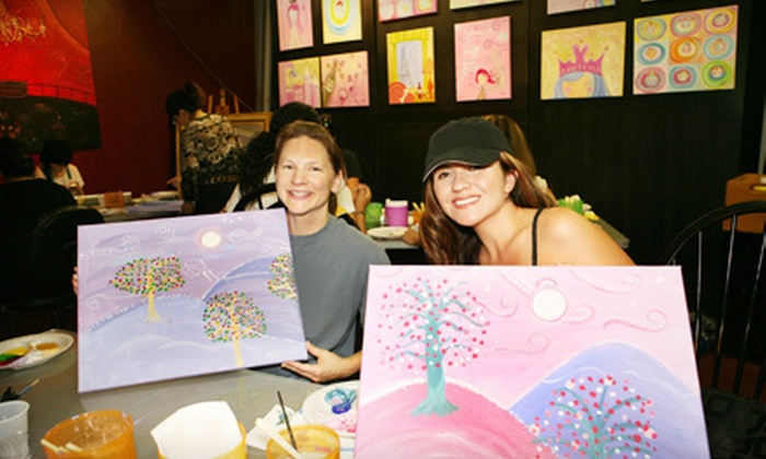 Sugar-n-Spice Studios - Santa Ana: Painting Class for One or Two Adults or for up to Five Adults or Children at Sugar-n-Spice Studios (Half Off)